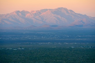 Kitt Peak National Observatory can be seen at the top of the mountain.