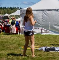 Texting while hula-hooping