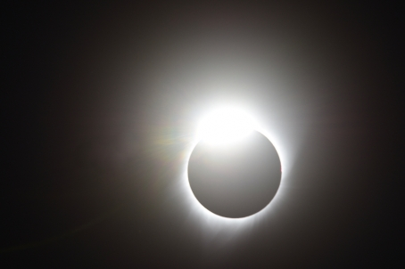 "11:33:40 AM: My closest approach to capturing the ""diamond ring"" effect."